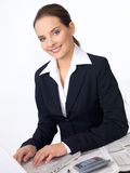 Cute Business Woman Stock Images