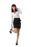 Cute business woman of Asian Royalty Free Stock Photo