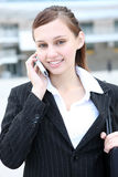 Cute Business Woman on Phone Stock Photos