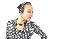 Cute business woman talking Stock Photography