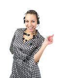Cute business woman talking Royalty Free Stock Photography