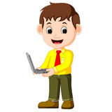 Cute businessman cartoon. Illustration of cute businessman cartoon Stock Photography
