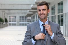 Cute businessman dressed to impress Stock Image
