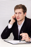 Cute businessman portrait Royalty Free Stock Images