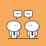 Cute businessmen have a conversation royalty free illustration