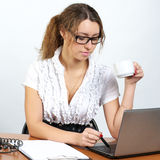 Cute businesswoman Royalty Free Stock Photo