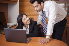 Cute businesswoman flirting Royalty Free Stock Photos