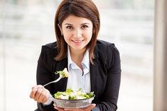 Cute businesswoman on lunch break Royalty Free Stock Photo
