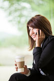 Cute businesswoman on the phone Royalty Free Stock Photos