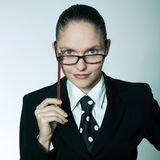 Cute  businesswoman portrait Royalty Free Stock Photos