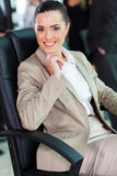 Cute businesswoman sitting Royalty Free Stock Photo