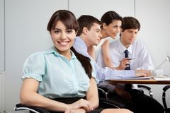 Cute Businesswoman Smiling Stock Photo
