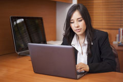 Cute businesswoman at work Stock Photography