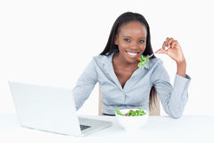 Cute businesswoman working Royalty Free Stock Images