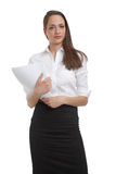 Cute businesswomen holding documents Stock Photography