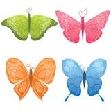 Cute butterflies. Cute colorful set of different butterflies Stock Photography