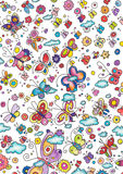 Cute Butterflies Background Royalty Free Stock Photo