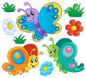 Cute butterflies collection 3. Vector illustration Royalty Free Stock Image
