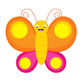Cute butterfly royalty free stock image