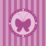 cute butterfly background Royalty Free Stock Photos