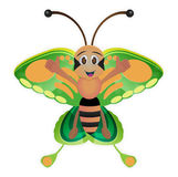 Cute butterfly cartoon Stock Images