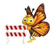 cute Butterfly cartoon character with baracade Stock Photo