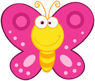 Cute Butterfly Cartoon Character Stock Images