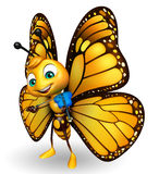 cute Butterfly cartoon character  with violin Stock Images