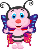 Cute butterfly cartoon Royalty Free Stock Photo