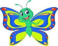 Cute butterfly cartoon stock illustration
