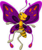 Cute Butterfly cartoon Stock Photography
