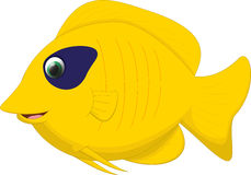 Cute butterfly fish cartoon Stock Photography