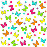 Cute butterfly seamless,pattern Royalty Free Stock Image