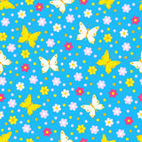 Cute butterfly seamless,pattern. Royalty Free Stock Photography