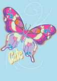 Cute butterfly. Vector illustration of a butterfly Stock Photography