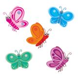 Cute Butterfly Vector. Cute butterfly illustration vector collection Stock Images