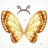 Cute Butterfly wings and hoop with antennae Stock Photography