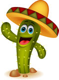 Cute cactus cartoon character Stock Images