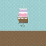 Cute cake background Stock Photography