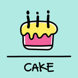 Cute cake hand-drawn style, vector illustration. Cute cake hand-drawn style,drawing,hand drawn vector illustration Stock Photography