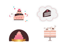 Cute cakes. Isolated on background Stock Photography