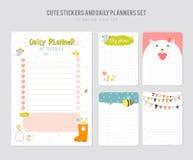 Cute Daily Calendar Template. Royalty Free Stock Photo