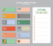 Cute Daily Calendar and To Do List Template stock photography