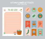 Cute Daily Calendar and To Do List Template royalty free stock images