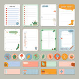 Cute Daily Calendar and To Do List Template Stock Image