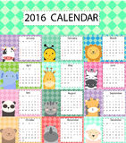 Cute calendar. Vector illustrator and computer design royalty free illustration