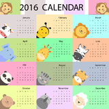 Cute calendar. Vector illustrator and computer design stock illustration