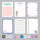 Cute Calendar Daily and Weekly Planner Royalty Free Stock Image