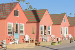 Cute California beach cottages Stock Photos