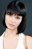 Cute Calm Symmetrical Face Of Young Slavic Woman Royalty Free Stock Photos